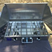 Partner Steel 2 Burner 22 Camp Stove with WindScreen