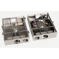 Partner Steel 2 Burner 9 Break A Way Hinge Stove