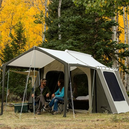Kodiak Canvas 12x9 Ft Cabin Tent Deluxe Awning