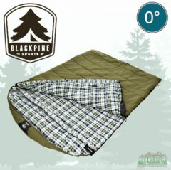 Black Pine Grizzly Plus 0 Degree 2 Person Ripstop Sleeping Bag