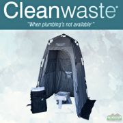 Cleanwaste Toilet System Kit with Shelter