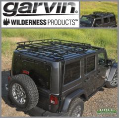 Garvin Expedition Rack Half Rack JK Wrangler Hard Top