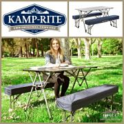 Kamp Rite Kwik Fold Table with Benches