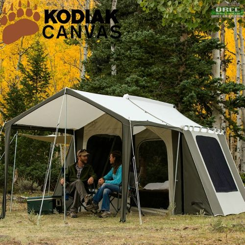 Kodiak Canvas 12x9 Ft Cabin Tent Deluxe Awning. Hover To Zoom