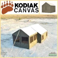 Kodiak Canvas Enclosed Awning Accessory for Cabin Lodge Tent