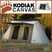 Kodiak Canvas 10x14 ft Flex Bow Canvas Tent Deluxe
