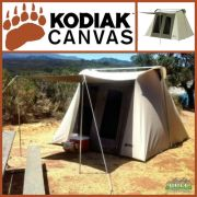 Kodiak Canvas 10x10 ft Flex Bow Canvas Tent Deluxe