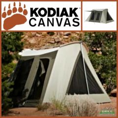 Kodiak Canvas 10x10 ft Flex Bow VX Canvas Tent with Ground Tarp