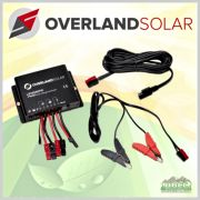 Overland Solar 10 Amp Charger Controller Bundle for 120 Watt Nylon Solar Charger