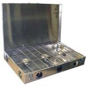 Partner Steel 3 Burner 16 X 26 Camp Stove with Lid
