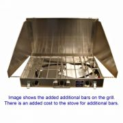 Partner Steel 3 Burner 16 X 26 Camp Stove with Windscreen